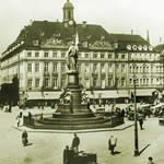 Blick auf Albertplatz in Dresden